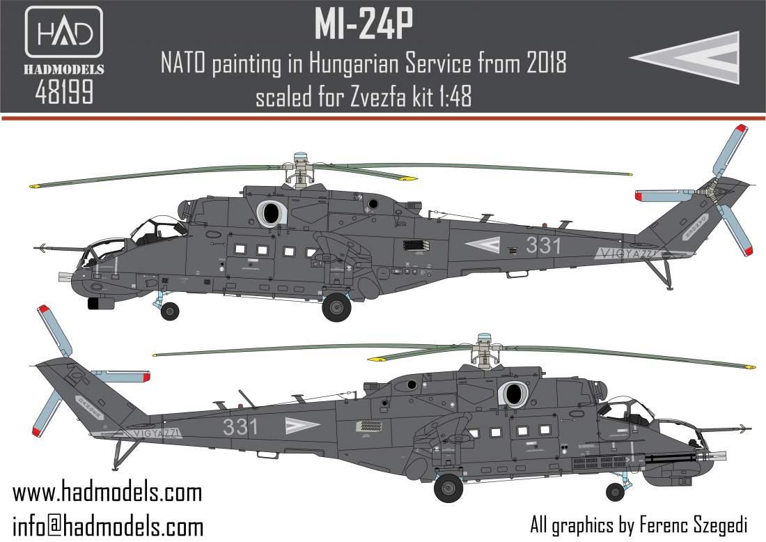48199 Mi-24P NATO festés a Magyar Légierő Szolgálatában matrica 1:48