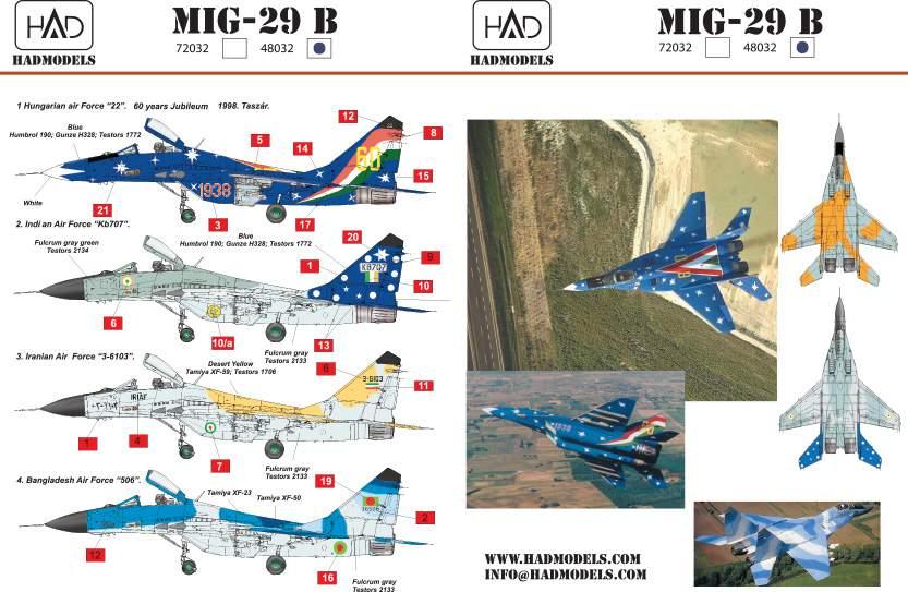 48032 reprint 2014 Mig-29 matrica 1:48