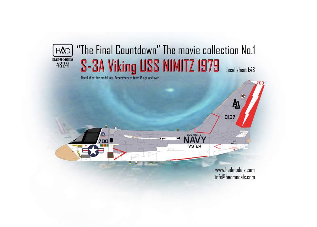 """48241 S-3A Viking """"A végső visszaszámlálás"""" gyűjtemény matrica 1:48"""