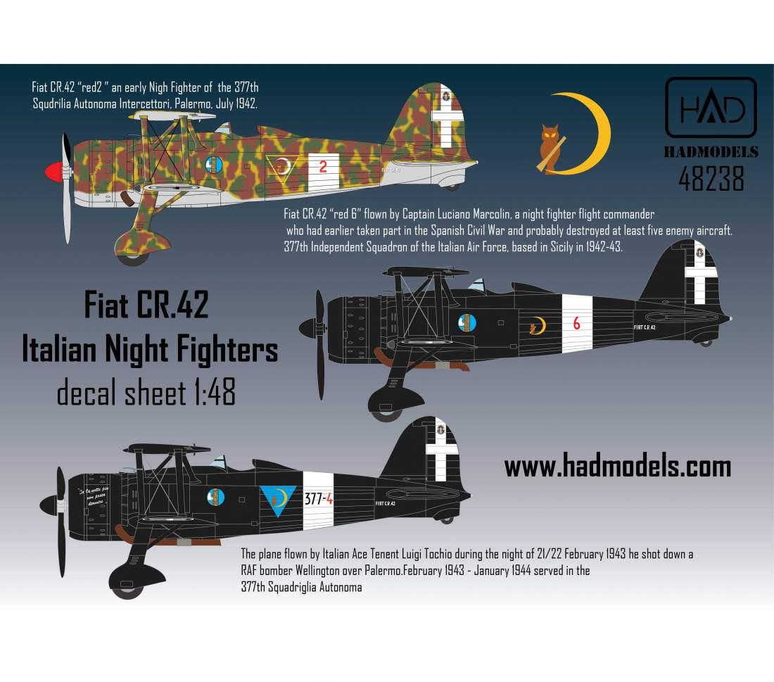 48238 CR-42  Olasz Éjszakai vadászok matrica 1:48