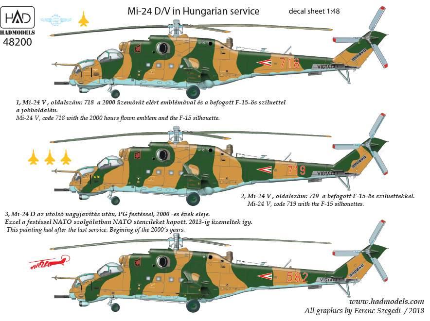 "48200 Mi-24 D/V "" Eagle Killers"" matrica  1:48"