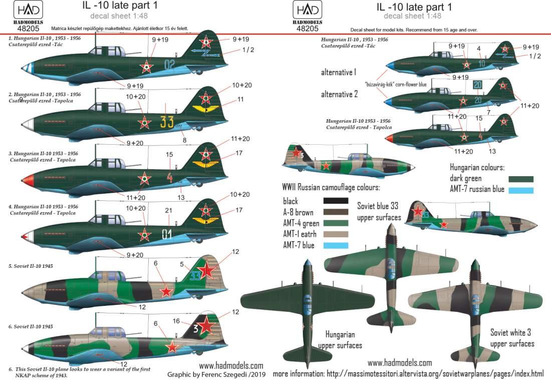 48205 Il-10 late part 1 matrica1:48