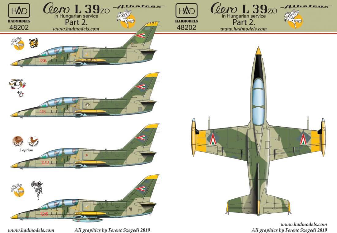 48202 Aero L-39 ZO Hungarian Part 2 matrica 1:48