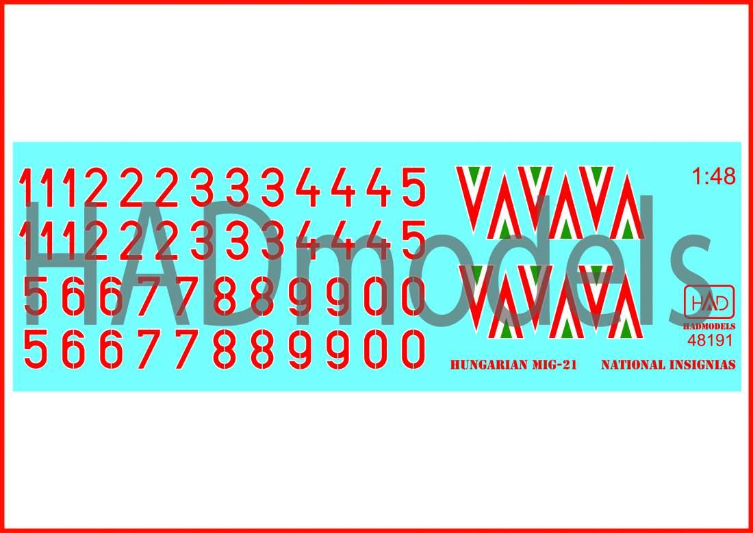 48191 Magyar felségjelzések 1990-1998 matrica 1:48