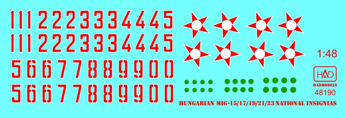 48190 magyar felségjelzések 1951-1990 matrica 1:48