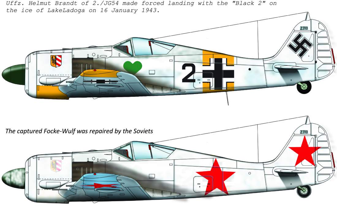 48179 FW-190 A-4 (Black 2 JG54; + Soviet captured painting) matrica 1:48