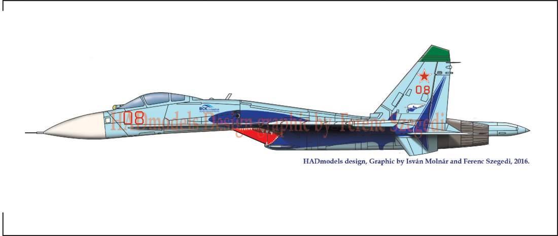 48171 Su-27(Russian 08 shark) matrica 1:48