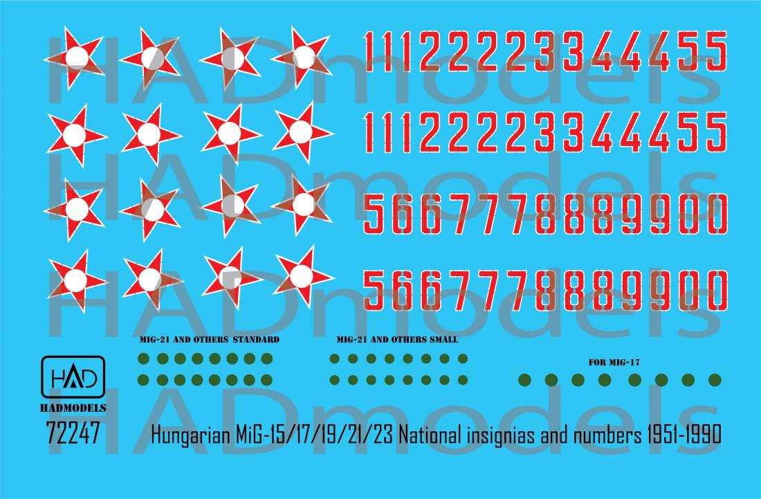 72247 Magyar Csillag és számsor 1951-1990 matrica 1:72